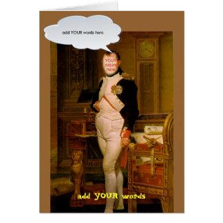 Napoleon Bonaparte faceinhole card