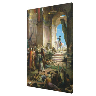 Napoleon Bonaparte  in the Grand Mosque at Cairo Canvas Print