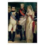 Napoleon Bonaparte  Receiving Queen Louisa Greeting Card