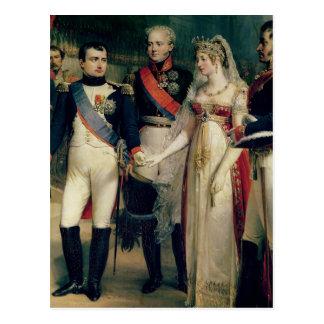 Napoleon Bonaparte  Receiving Queen Louisa Postcard