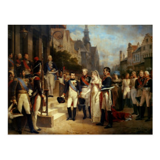 Napoleon Bonaparte Receiving Queen Louisa Postcard