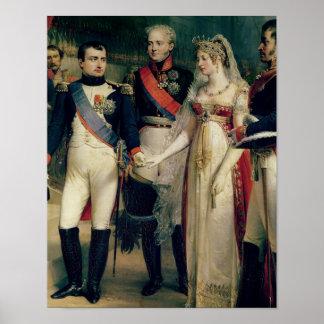 Napoleon Bonaparte  Receiving Queen Louisa Poster