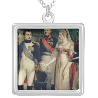 Napoleon Bonaparte  Receiving Queen Louisa Silver Plated Necklace