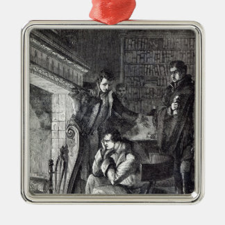 Napoleon brooding by the fire christmas ornament