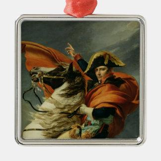 Napoleon  Crossing the Alps 2 Silver-Colored Square Decoration