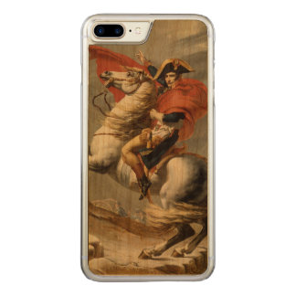 Napoleon Crossing the Alps by Jacques Louis David Carved iPhone 7 Plus Case
