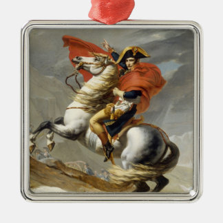 Napoleon Crossing the Alps by Jacques Louis David Christmas Tree Ornament