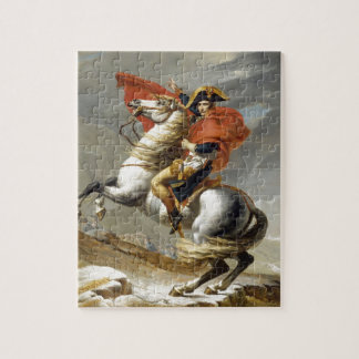 Napoleon Crossing the Alps by Jacques Louis David Jigsaw Puzzle