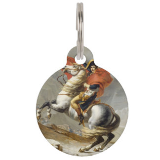 Napoleon Crossing the Alps by Jacques Louis David Pet ID Tags