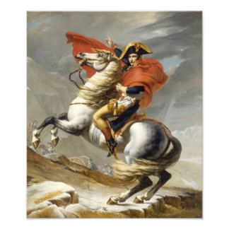 Napoleon Crossing the Alps by Jacques Louis David Photo Print