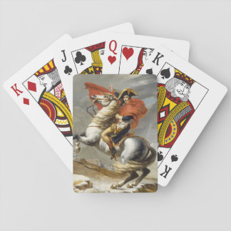 Napoleon Crossing the Alps by Jacques Louis David Poker Deck