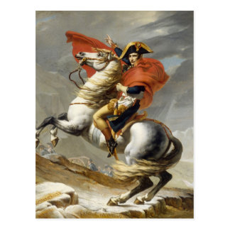 Napoleon Crossing the Alps by Jacques Louis David Postcard