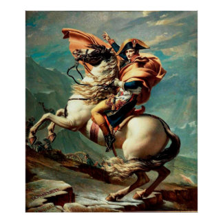 Napoleon Crossing the Alps by Jacques-Louis David Print