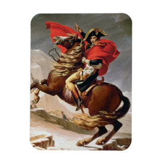 Napoleon Crossing the Alps, c.1800 (oil on canvas) Magnet