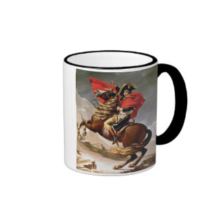 Napoleon Crossing the Alps, c.1800 (oil on canvas) Ringer Mug