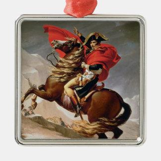 Napoleon Crossing the Alps, c.1800 (oil on canvas) Silver-Colored Square Decoration