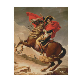 Napoleon Crossing the Alps, c.1800 (oil on canvas) Wood Print
