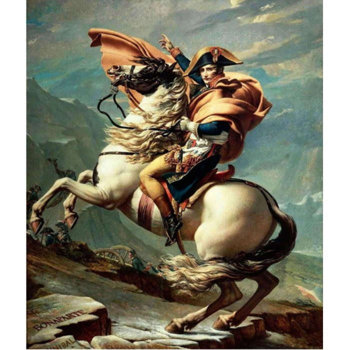 Napoleon Crossing the Alps Jacques-Louis David Photo Sculpture Magnet