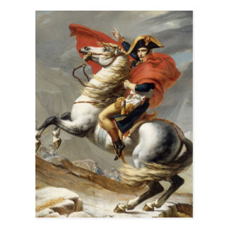 Napoleon Crossing the Alps - Jacques-Louis David Postcard