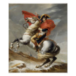 Napoleon Crossing the Alps -- Jacques-Louis David Poster