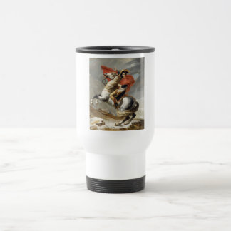Napoleon Crossing the Alps - Jacques-Louis David Travel Mug