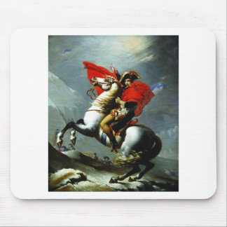 Napoleon Crossing the Alps Mouse Pads