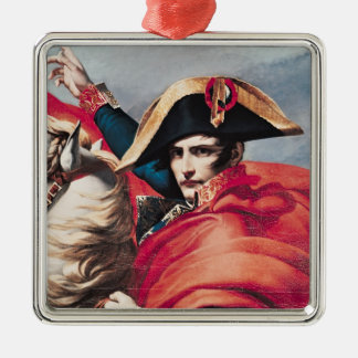 Napoleon  Crossing the Alps Silver-Colored Square Decoration