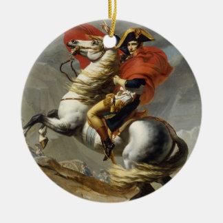 Napoleon Crossing the Grand Saint-Bernard Pass Round Ceramic Decoration