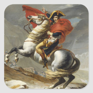 Napoleon Crossing the Grand Saint-Bernard Pass Square Stickers