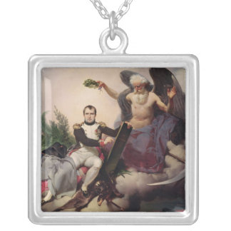 Napoleon  Crowned by Time, before 1833 Silver Plated Necklace