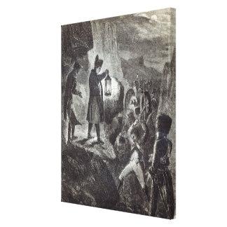 Napoleon extricating Lannes' Artillery Gallery Wrap Canvas