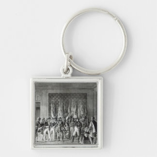 Napoleon gives the flags won at Austerlitz Key Ring