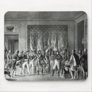 Napoleon gives the flags won at Austerlitz Mouse Mat