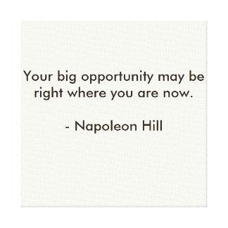 Napoleon Hill Quote Canvas Print