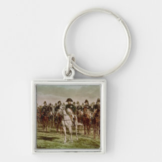 Napoleon I  and his Staff, c.1860 Silver-Colored Square Key Ring