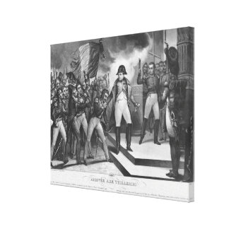 Napoleon I  arriving at the Tuileries Canvas Print