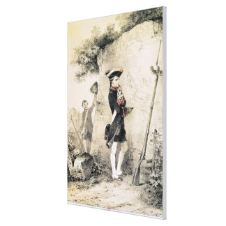 Napoleon I  at Military School Canvas Print