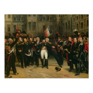 Napoleon I  Bidding Farewell to the Imperial Postcard