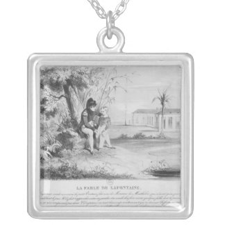 Napoleon I  on the island of St. Helena Silver Plated Necklace