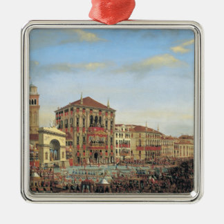 Napoleon I  Presiding over a Regatta in Venice Christmas Ornament