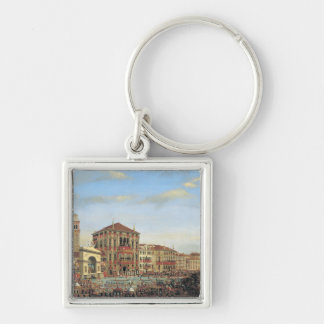 Napoleon I  Presiding over a Regatta in Venice Key Ring