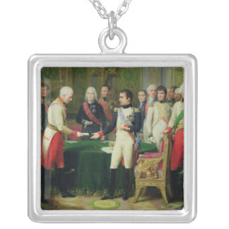 Napoleon I  Receiving Baron Vincent Silver Plated Necklace