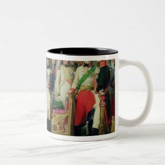 Napoleon I  Receiving Baron Vincent Two-Tone Coffee Mug