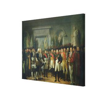 Napoleon I  Receiving the Deputies Canvas Print