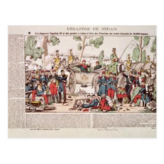 Napoleon III  arrives at Sedan Postcard