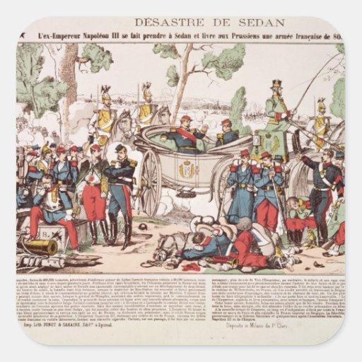 Napoleon III  arrives at Sedan Square Stickers