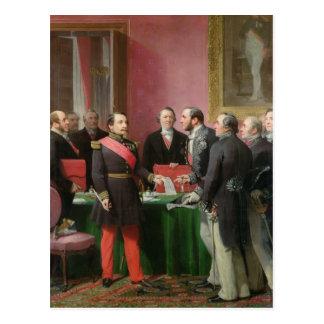 Napoleon III  Hands Over The Decree Postcard