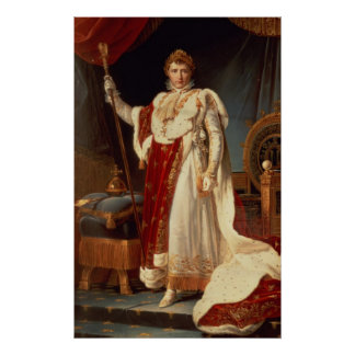Napoleon in Coronation Robes, c.1804 Poster