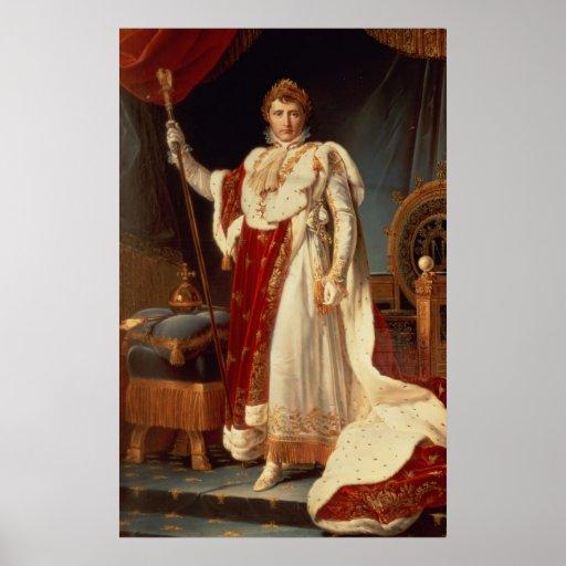 Napoleon in Coronation Robes, c.1804 Poster