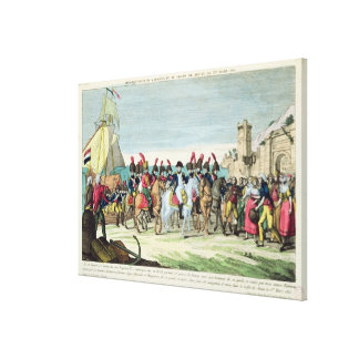 Napoleon  Leaving for Golf Juan, 1st March 1815 Stretched Canvas Prints